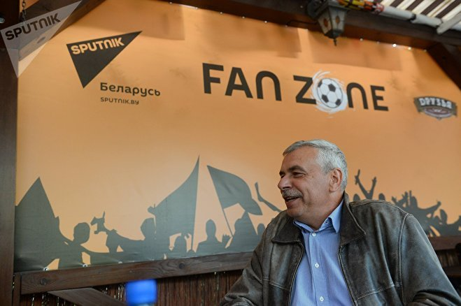 Футболист Андрей Зыгмантович в Sputnik Fan Zone