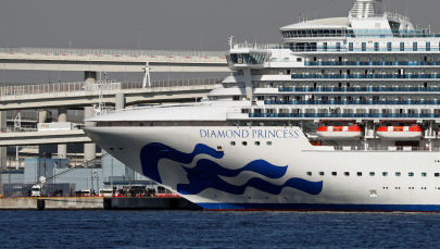Круизное судно Diamond Princess